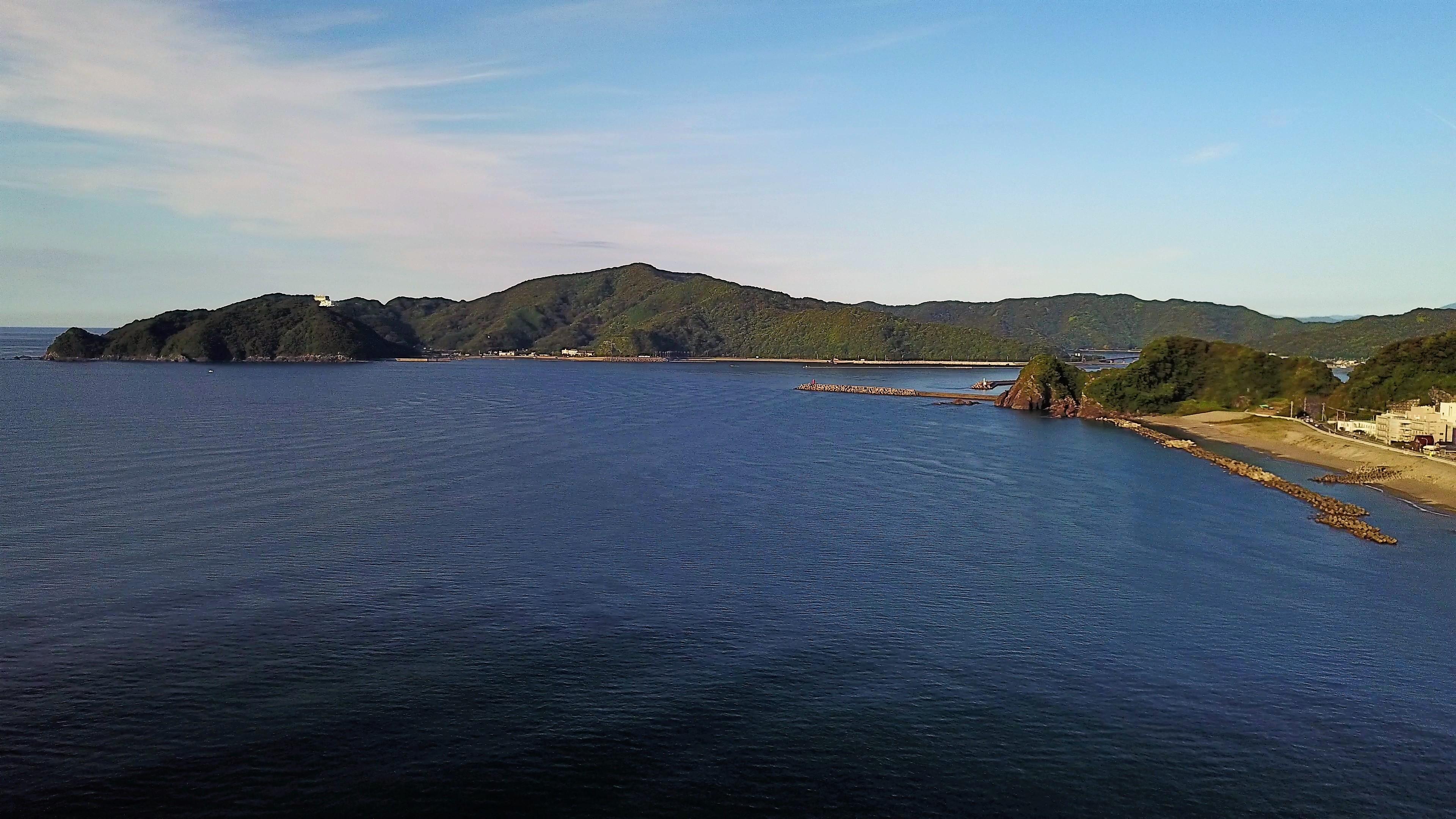 新居海岸 高知県空撮